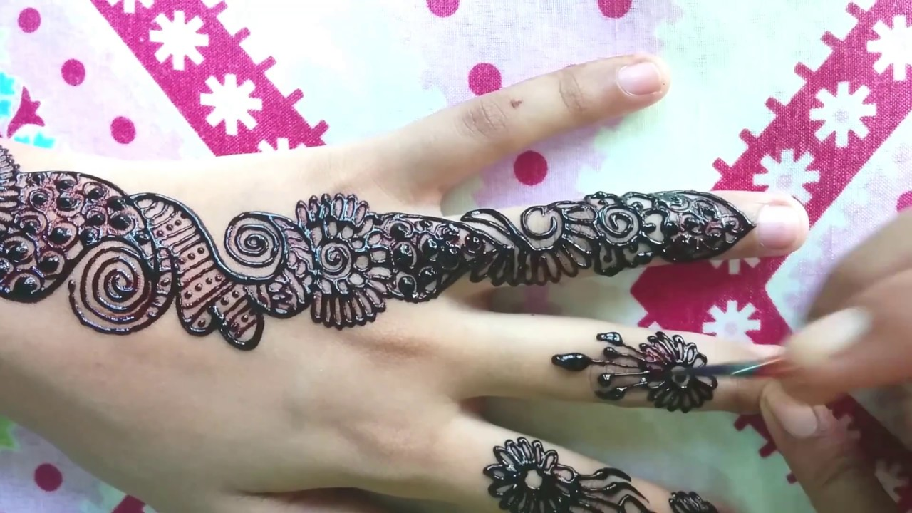 Best One Finger Mehndi Design Diy Video 2017 Fingers Henna