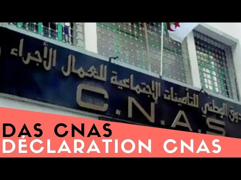 Déclaration CNAS Algérie  (DAC/DAS) par internet !