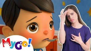 Sick Song | Sign Language For Kids | Baby Songs | Little Baby Bum | ASL