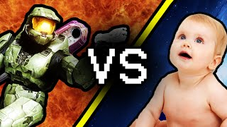 PUNCHING BABIES - (Master Chief Collection Gameplay)