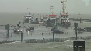 Wilhelmshaven Sturm Orkan am 3.1.2018
