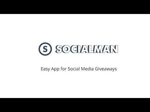 Socialman giveaway setup example