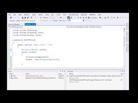 Modify a UI Control from a separate Thread C# Part I
