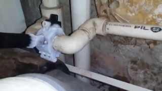 замена вентиля под давлением (без отключения стояков) с помощью аппарата для заморозки труб