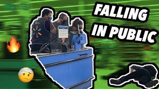 Falling in public prank