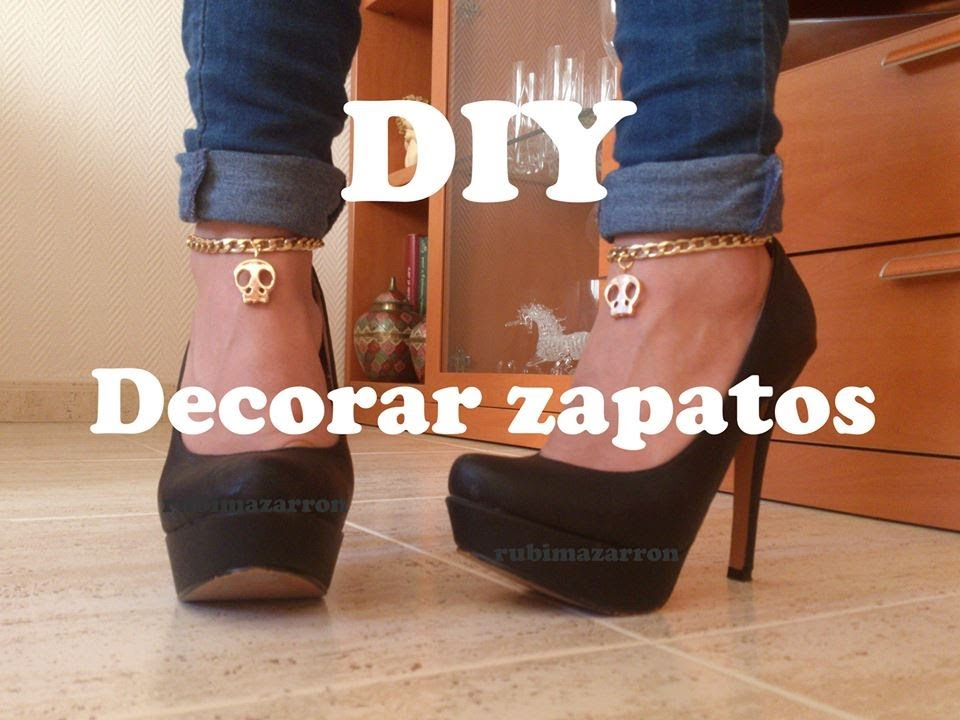 Tacón Cadenas Y DiyDecorar Zapatos Con De Calaveras hdxsCrBtQ