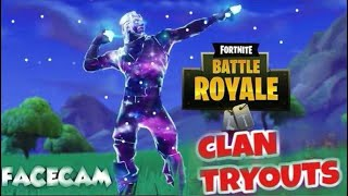Fortnite - Essais de clan - Skin GIVEAWAY - Gameplay Agressif - Night Stream