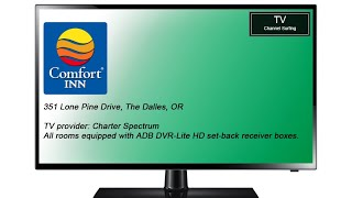 TV Channel Lineup: Comfort Inn, The Dalles, OR