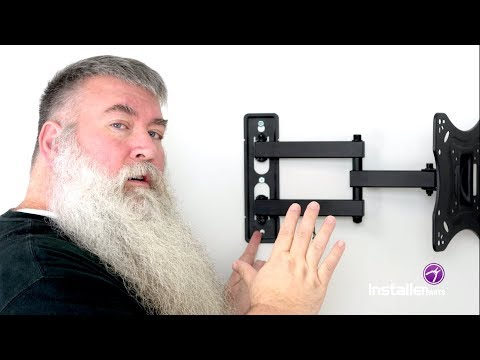How To Install An Articulating Mount And In Wall Power Kit