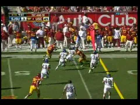 USC QB #15 Aaron Corp Highlights vs. San Jose State 2009