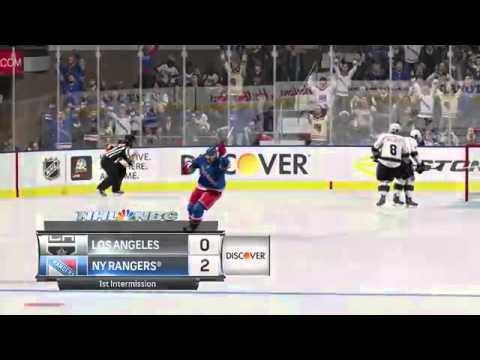 NHL 15 LA KINGS VS NY RANGERS ( Madison square garden)