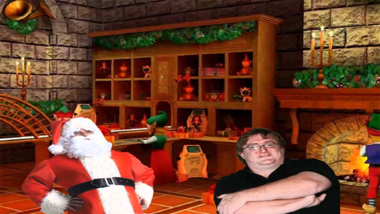Gabe Newell Saves Christmas in Valve Time - YouTube