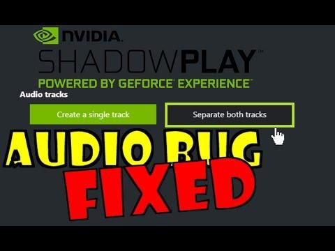 Shadowplay separate both tracks location