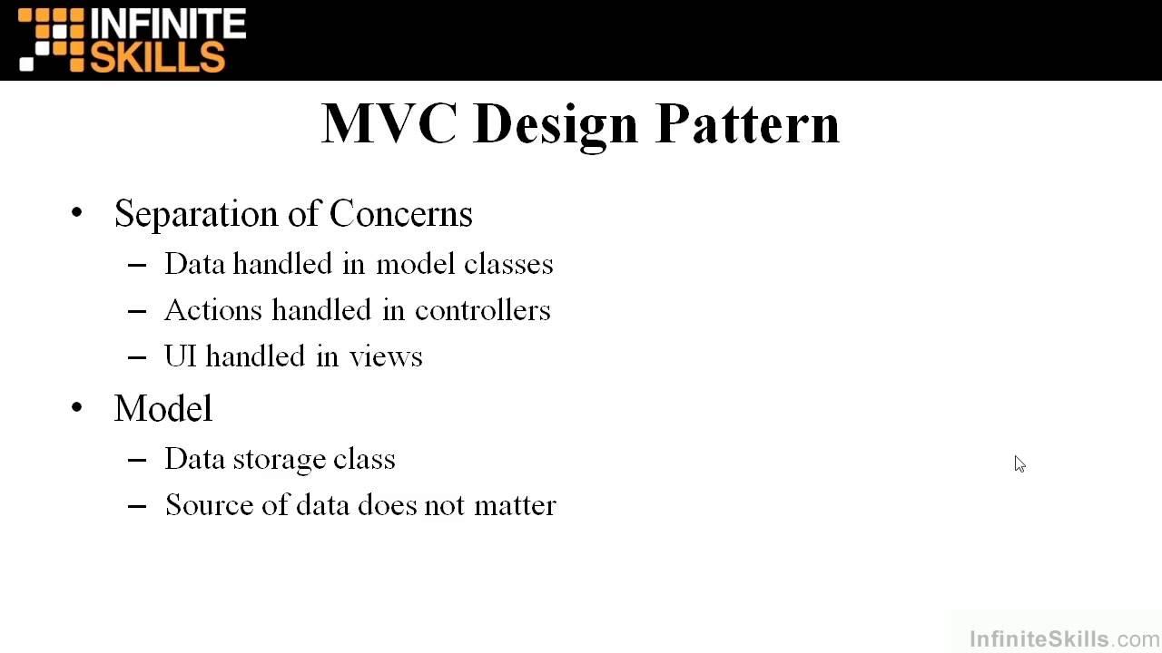Asp Mvc Tutorial Mvc Design Pattern Youtube