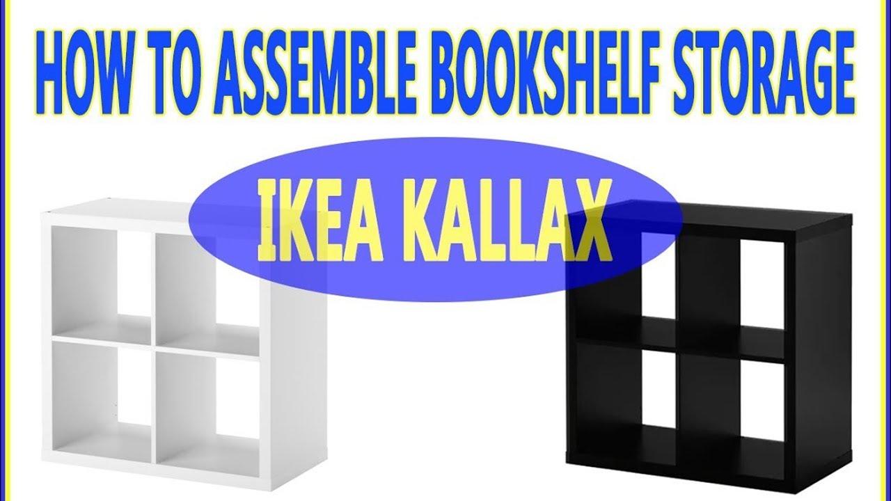 to assemble ikea kallax 4 cubes shelf
