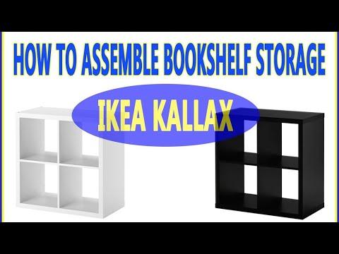 How to Assemble Ikea Kallax 4 Cubes Shelf