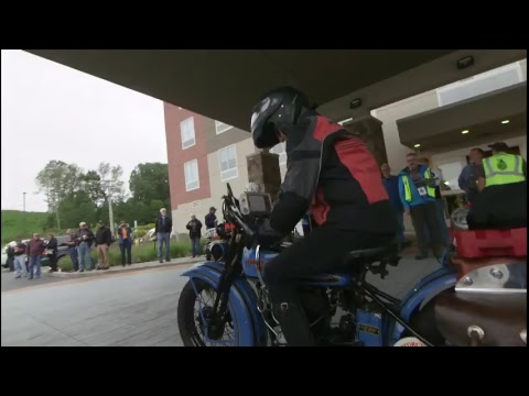 Motorcycle Cannonball Stage 4 start Jamestown HD