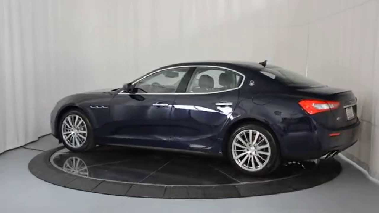 Maserati Ghibli S Q4 >> 2015 Maserati Ghibli S Q4 - Blu Passione Mica - YouTube