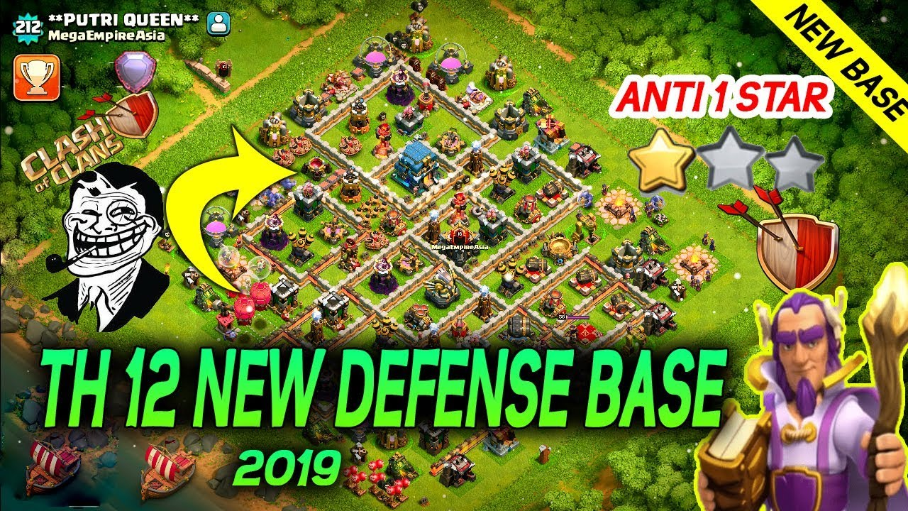 NEW Best Town Hall 12 (TH12) Base 2019 LayOut With Reply Image | TH12  Trophy | Clash of Clans