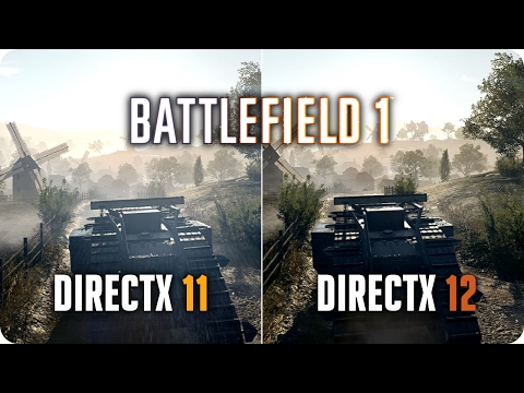 BATTLEFIELD 1 SP DirectX 12 vs DirectX 11 | GTX 1070 Frame Rate Comparison