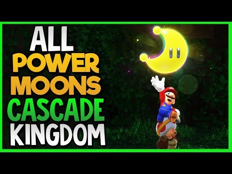 All Power Moon Locations in Cascade Kingdom in Super Mario Odyssey