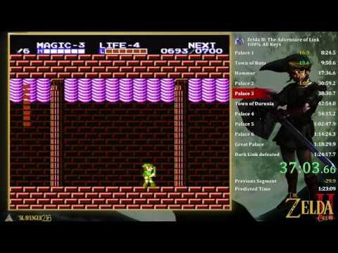 Zelda 2 100% All keys 1:21:26