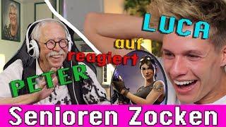 Opa reagiert auf Luca reagiert auf Senioren Zocken Fortnite