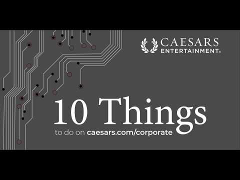 10 Things to Do On Caesars' New Corporate Website