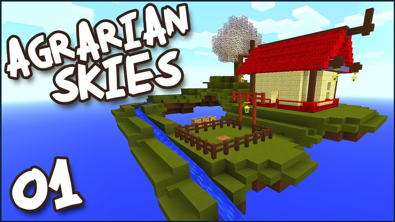 minecraft modded skyblock agrarian skies ep 01 now with quests