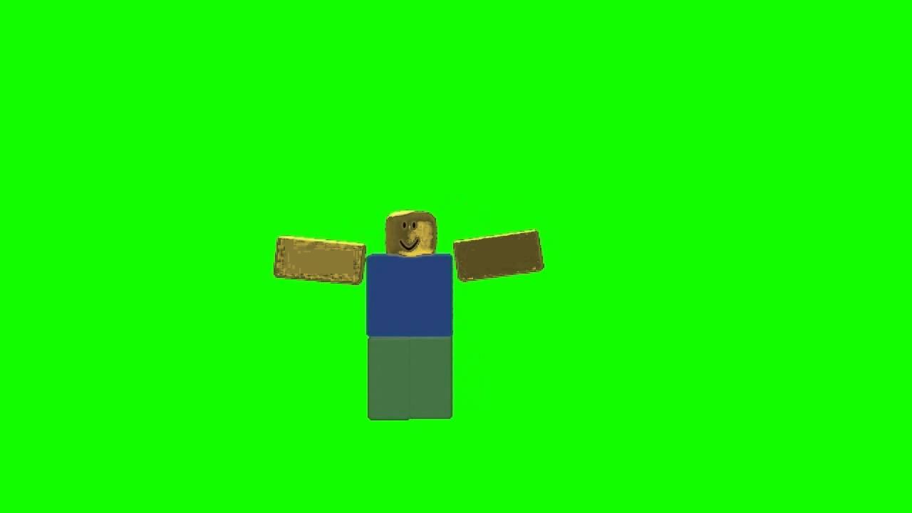 roblox noob doing default dance gif Roblox Green Screen Dancing Noob 2 Youtube