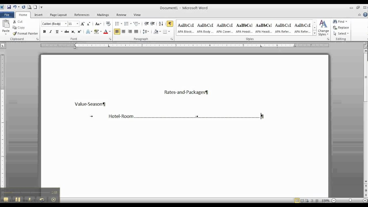 how to make tab stop in word for mac