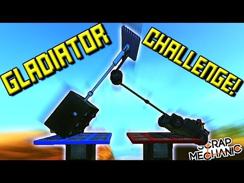 GLADIATOR JOUSTING CHALLENGE!  - Scrap Mechanic Multiplayer Monday! Ep 72