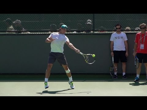 Rafael Nadal Ultimate Slow Motion Compilation - Forehand - Backhand - Serve - 2013 Indian Wells