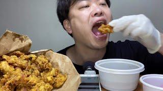 노랑통닭 알싸한 마늘치킨 먹방