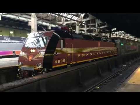 NJT ALP-46A 4636 PRR Heritage Unit 1st Revenue Run On NJCL 2605 At Newark Penn Station 10/31/19