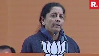 Raksha Mantri Nirmala Sitharaman Addresses BJP Meet At Ramlila Maidan | #BJP2019Strategy