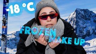 FROZEN MAKEUP Challenge 🥶 -18° gefrorenes eiskaltes Makeup auftragen 🍦 Hatice Schmidt