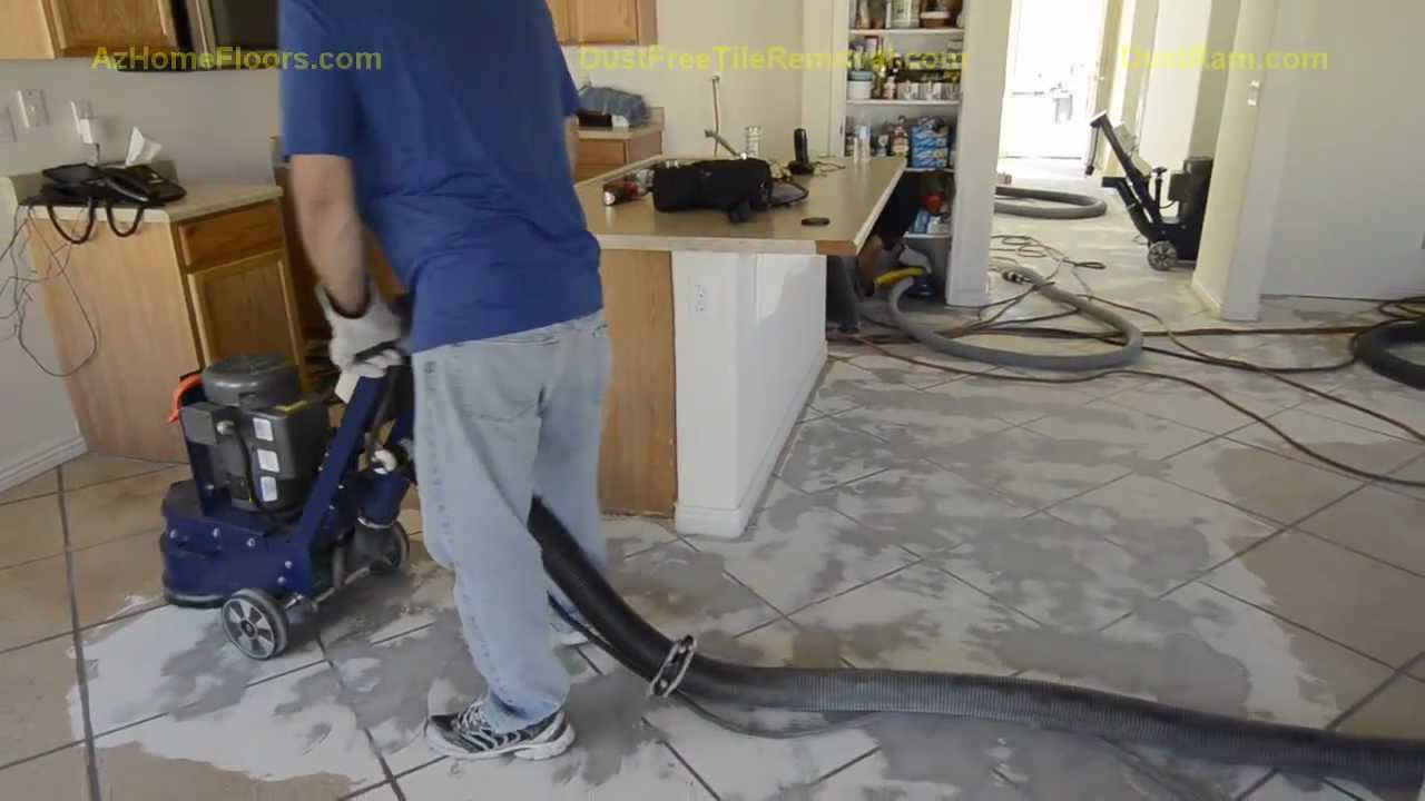 Coating Removal With The DustRam System Witness Our Dust Free - Cleaning dust after tile removal