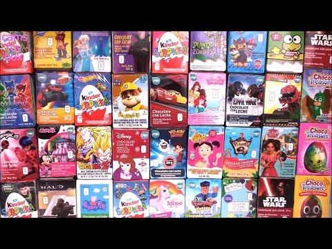 36 Chocolate Surprise EGGS KINDER Toys Opening Paw Patrol Peppa PIG PJ MASKS
