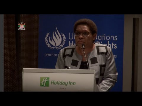 Fijian Minister for Women officiates at the UN Guiding Principles Workshop