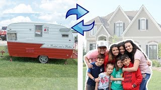 We're MOVING into an RV! House Swap for 24 hours in TINY HOUSE!