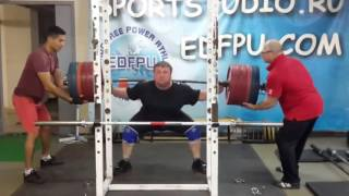 RAW Squat 670 lb * 4 rep Приседания 303*4