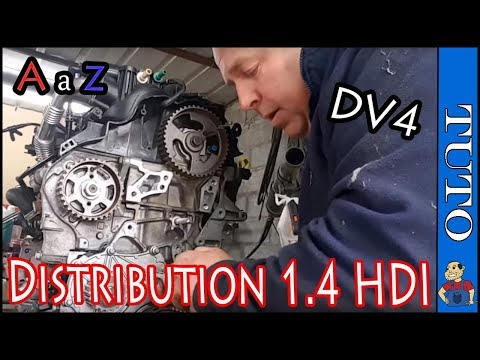 Comment remplacer sa courroie de   Distribution 1.4 hdi ★Tuto YouTube★