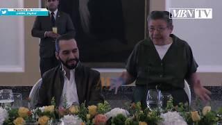 María Chichilco y Nayib Bukele | Reunión con Representantes del Mozote