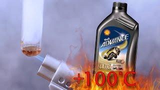 Shell Advance 4T Ultra 10W40 Jak czysty jest olej silnikowy? Test powyżej 100°C