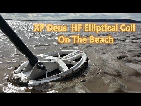 XP Deus Elliptical Coil Beach Test FIRST VIDEO on the internet