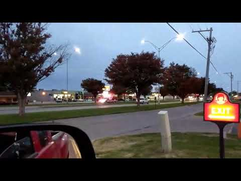 Burlington, IA Fire Department Engine 736 and Ambulance 755 Responding