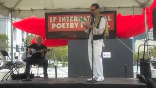 Yahia Lababidi reading at the San Francisco International Poetry Festival on 7/28/2012