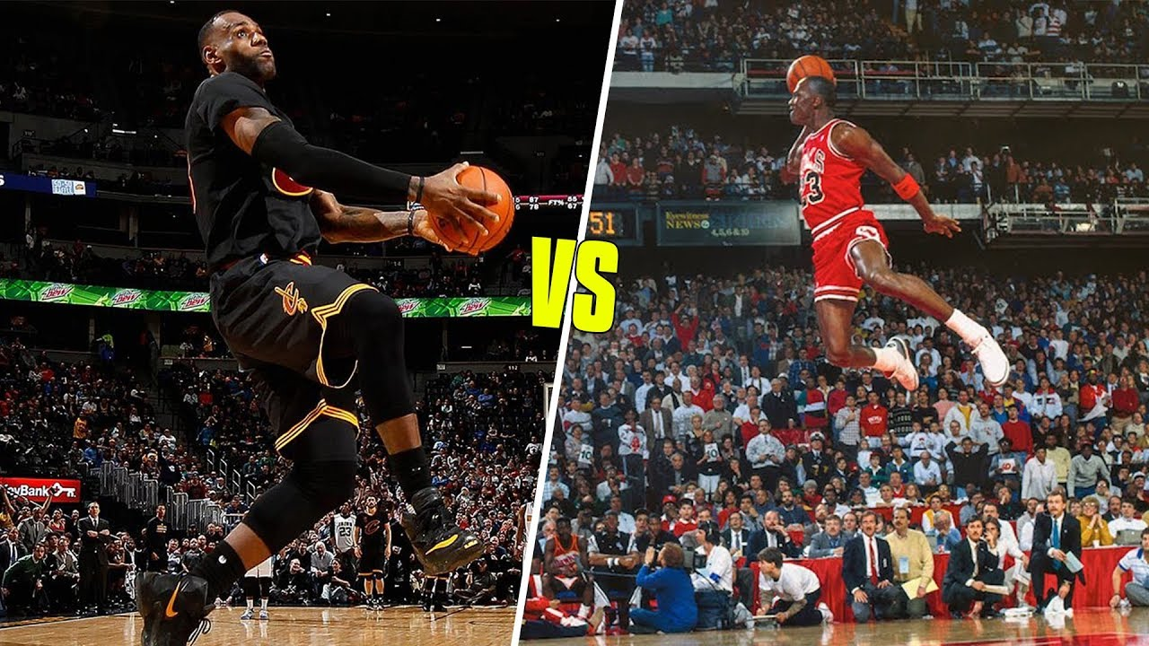 Michael Jordan Vs LeBron James Greatest Career Dunks