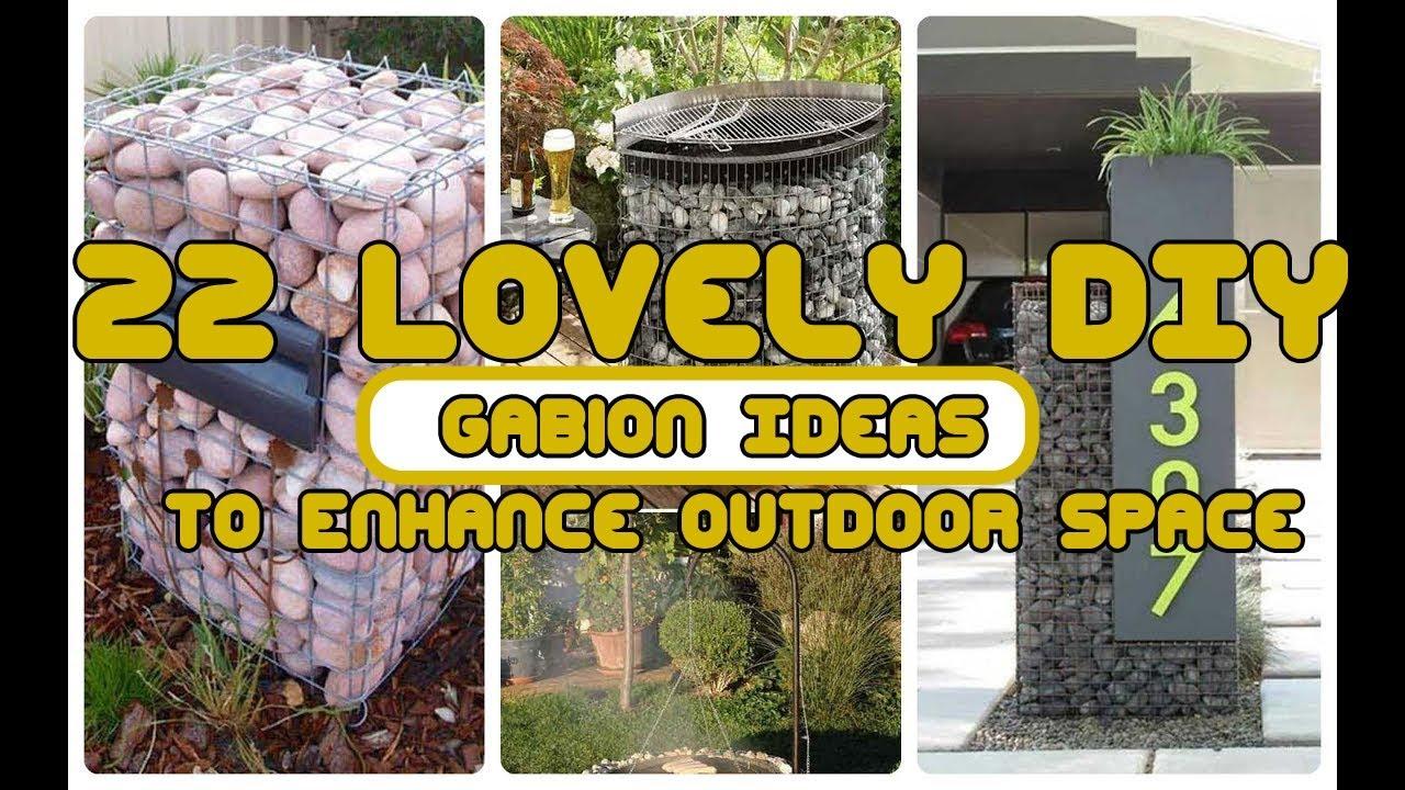 22 Lovely DIY Gabion Ideas To Enhance Outdoor Space - YouTube